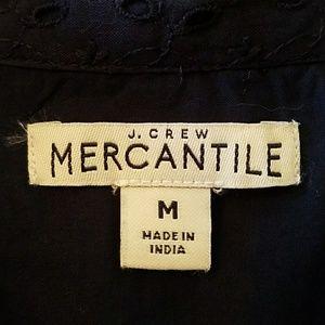 J. Crew Dresses - J.Crew Mercantile Eyelet Collared Tie Front Dress